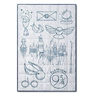 Harry Potter Hogwart Symbols 5lbs Weighted Blanket